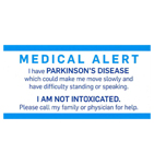 Click here for more information about Medical Alert Card