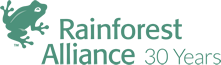 Rainforest Alliance 30 Years Logo