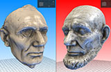 3D Printable Lincoln Life Masks
