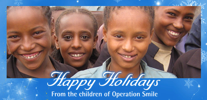 Happy Holidays from the children of Operation Smile