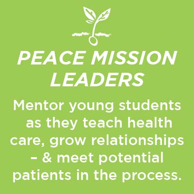 Peace mission graphic. Click to sign up