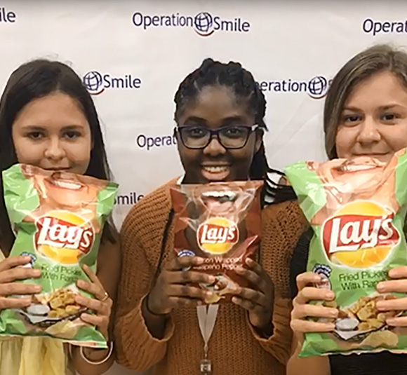Fun with Lay's Smile Bags