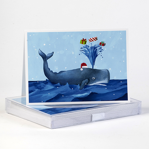 Whale Holiday Cards