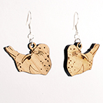 Click here for more information about Wood Earrings - Harbor Seal or Sea Lion