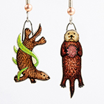 Click here for more information about Fun, Recycled Sea Otter Earrings