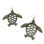 Click here for more information about Wood Sea Turtle Earrings