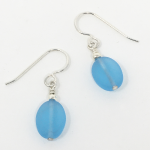 Click here for more information about Seaglass Earrings - Turquoise Drop