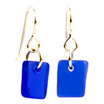 Click here for more information about Sea Glass Earrings - 3 colors