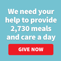 We need your help to provide 2,730 meals and care a day